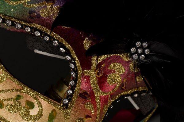 Colombina Piumata - Rossa - Maschera Veneziana - 1