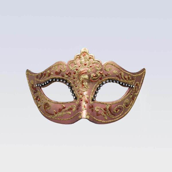 Colombina Mask - Bronze Color - Venetian Mask