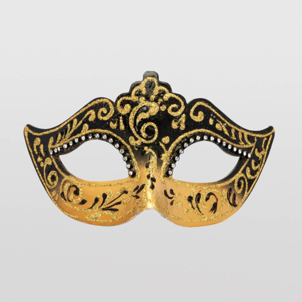 Colombina Mask - Black Color - Venetian Mask