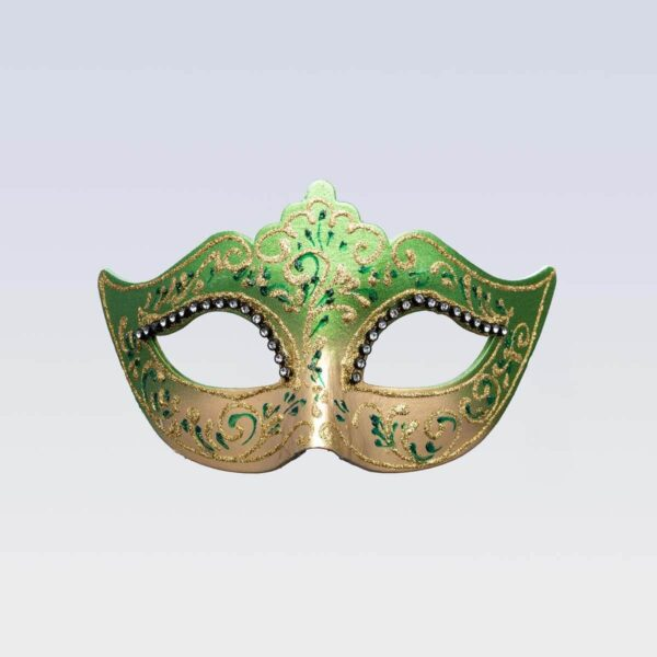 Colombina Mask - Green Color - Venetian Mask