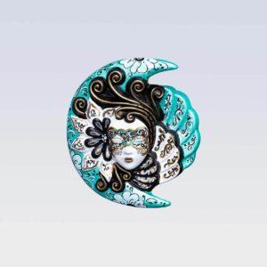 Eclissi Small - Verde - Maschera Veneziana