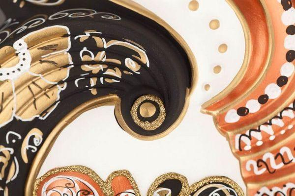 Giada Medium - Bronze Color - Detail 3 - Venetian Mask