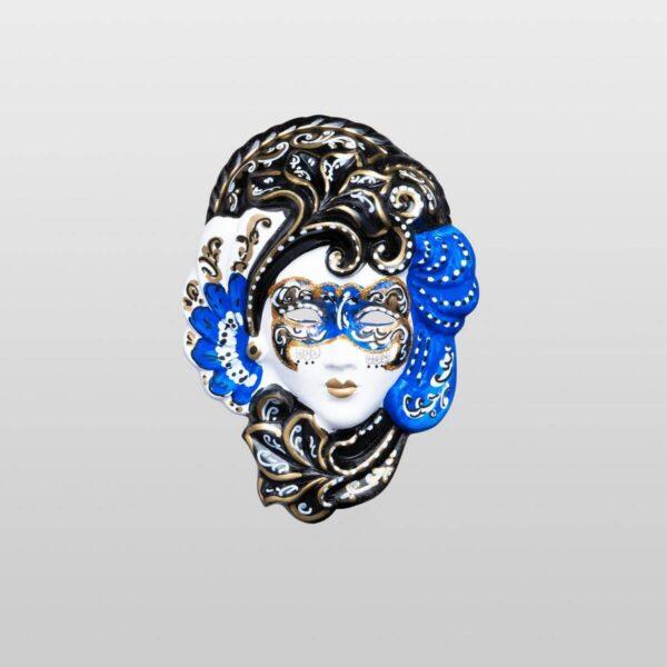 Iris - Extra Klein - Blau - Venezianische Maske