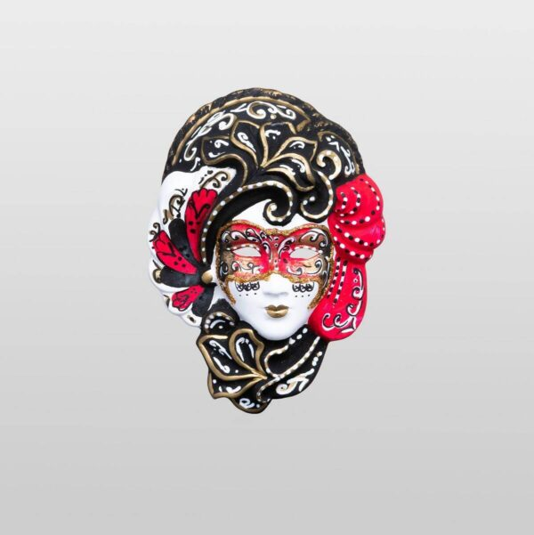 Iris Red - Extra Small Size - Venetian Mask