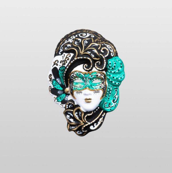 Iris - Extra Klein - Grün - Venezianische Maske