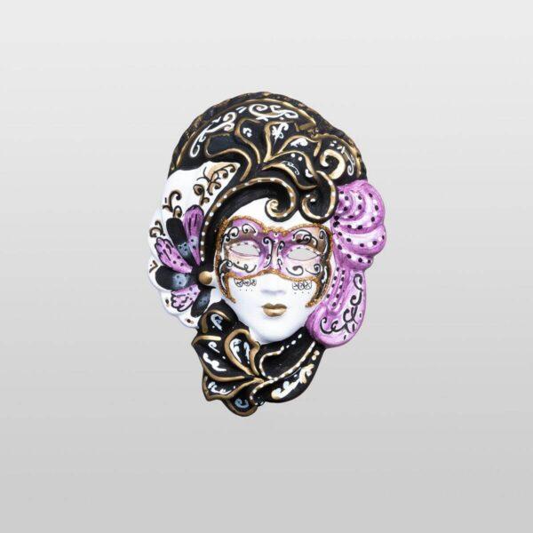 Iris - Extra Klein - Violett - Venezianische Maske