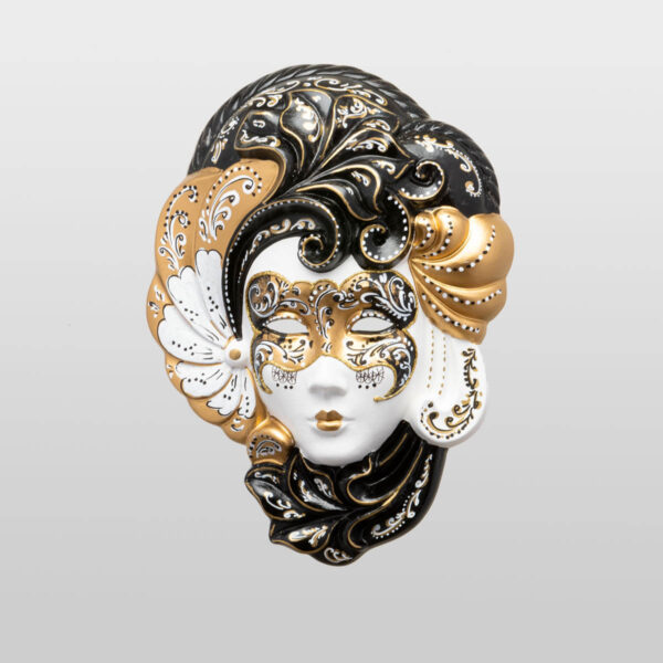 Iris Medium Gold - Venetian Mask