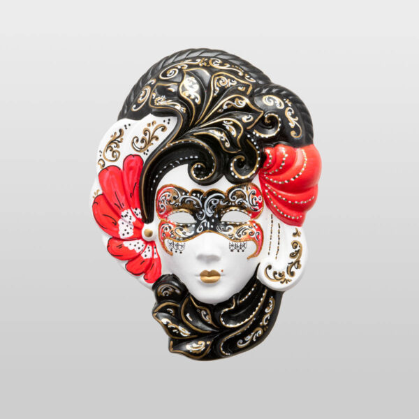 Iris Medium Red - Venetian Mask