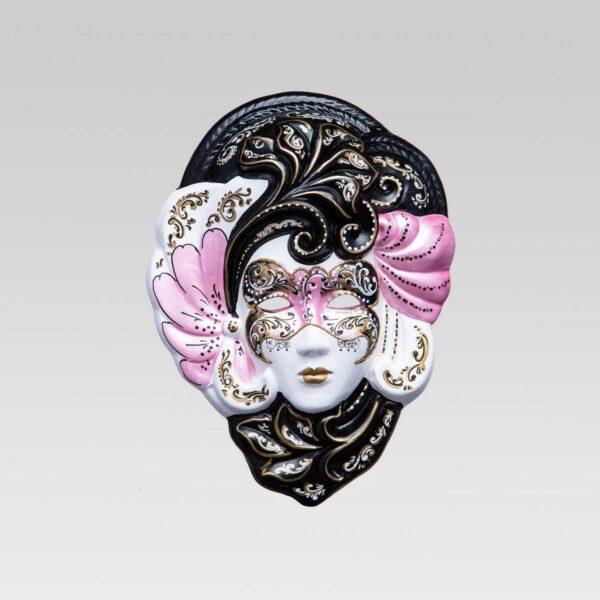 Iris - Moyen - Rose - Masque Vénitien