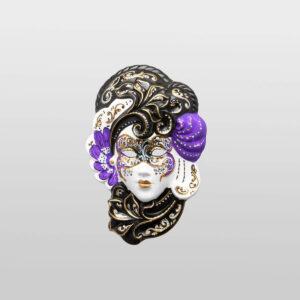 Iris - Petit - Violet - Masque Vénitien