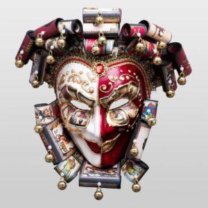 Jolly René Curly im Papiermache - Tarot - Venezianische Maske