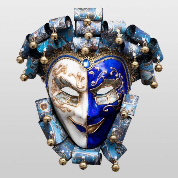 Jolly René Curly in Paper Mache - Zodiac Style - Venetian Mask