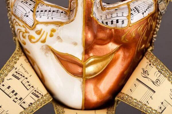 Jolly René Tips in Paper-Mache - Detail 2 - Venetian Mask