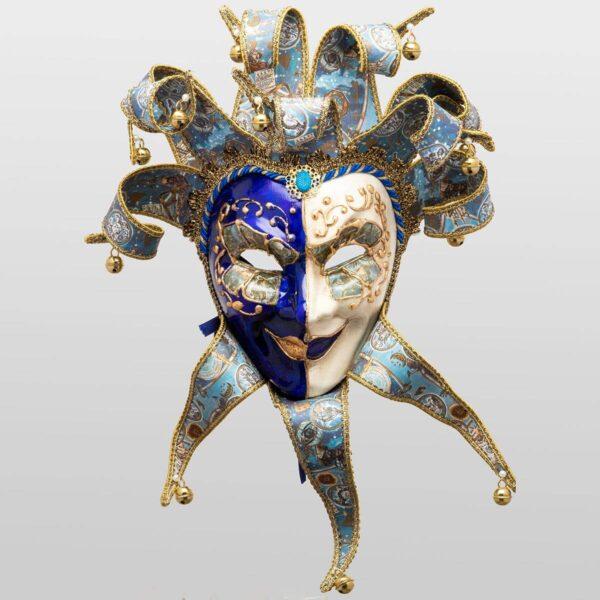 Jolly René Punte in Papier Mache - Zodiac Style - Venetian Mask
