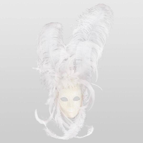 Piuma Sonia - White Color - Venetian Mask