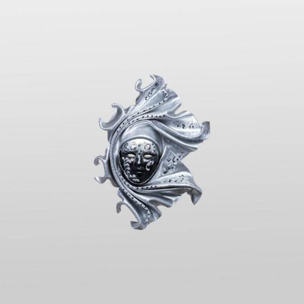 Saamira Extra Small Silver - Venetian Mask