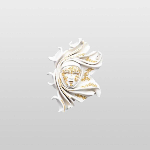Saamira Extra Small White - Venetian Mask
