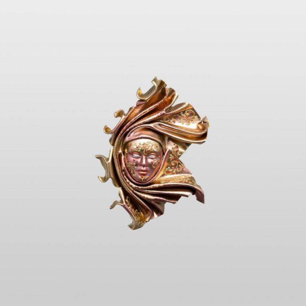 Saamira Extra Small Bronze - Venetian Mask