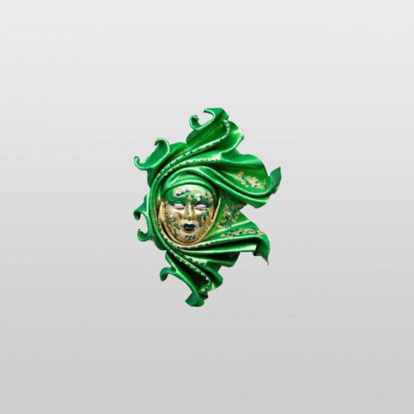 Saamira Extra Small Green - Venetian Mask