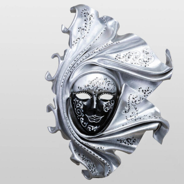 Saamira Large - Argento - Maschera Veneziana