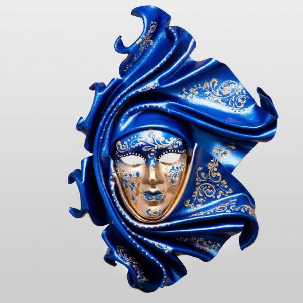 Saamira Large - Blu - Maschera Veneziana