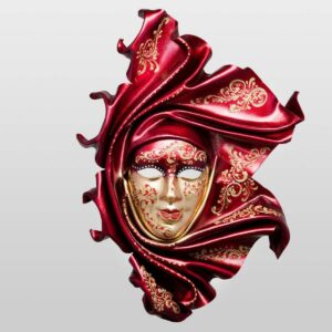 Saamira Large Red - Venetian Mask