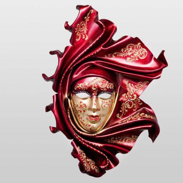 Saamira Large - Rosso - Maschera Veneziana