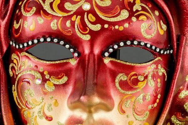 Saamira Large - Rosso - Maschera Veneziana - 1