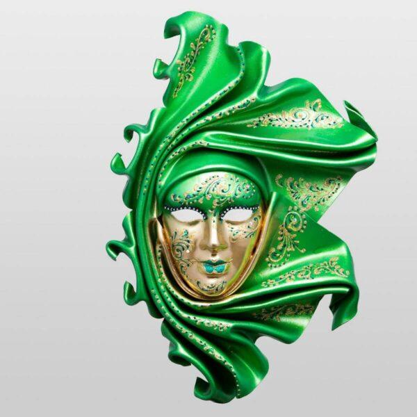 Saamira Large - Verde - Maschera Veneziana