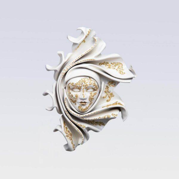 Saamira - Mediana - Blanco - Máscara Veneciana
