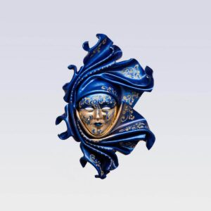 Saamira Medium Blue - Venetian Mask