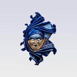 Saamira - Medium - Blu - Maschera Veneziana