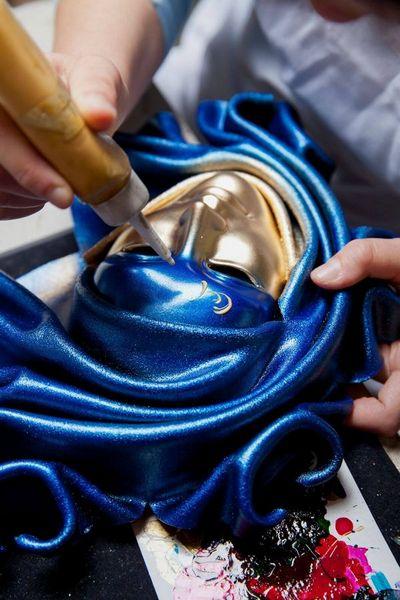 Saamira - Mediana - Azul - Máscara Veneciana - 1
