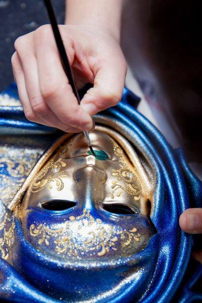 Saamira - Mediana - Azul - Máscara Veneciana - 3