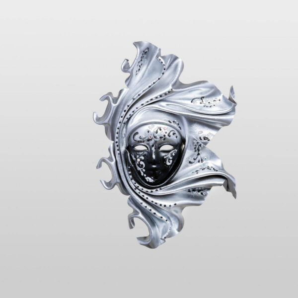 Saamira - Pequeña - Plateado - Máscara Veneciana