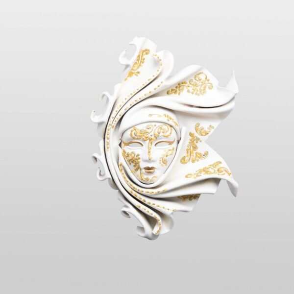 Saamira Small White - Venetian Mask
