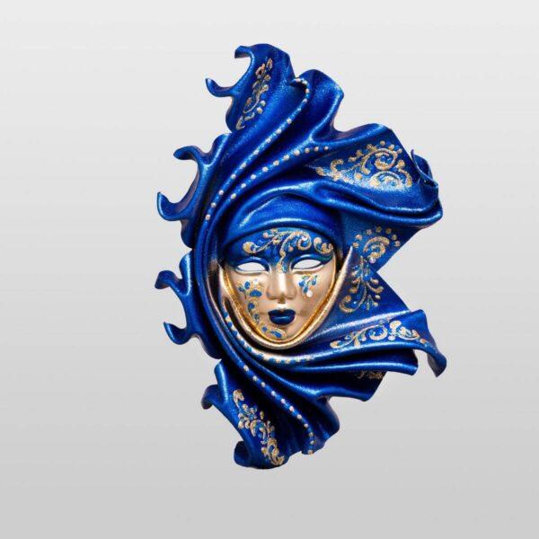 Saamira - Pequeña - Azul - Máscara Veneciana