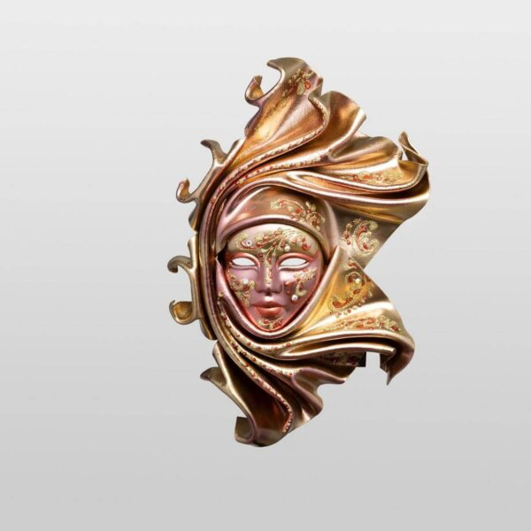Saamira - Pequeña - Bronce - Máscara Veneciana