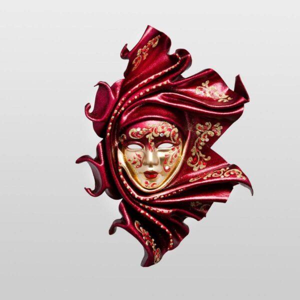 Saamira - Pequeña - Rojo - Máscara Veneciana