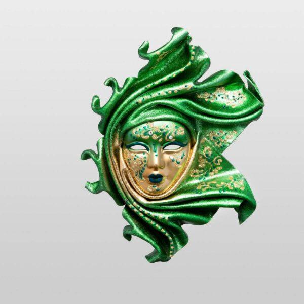 Saamira - Pequeña - Verde - Máscara Veneciana