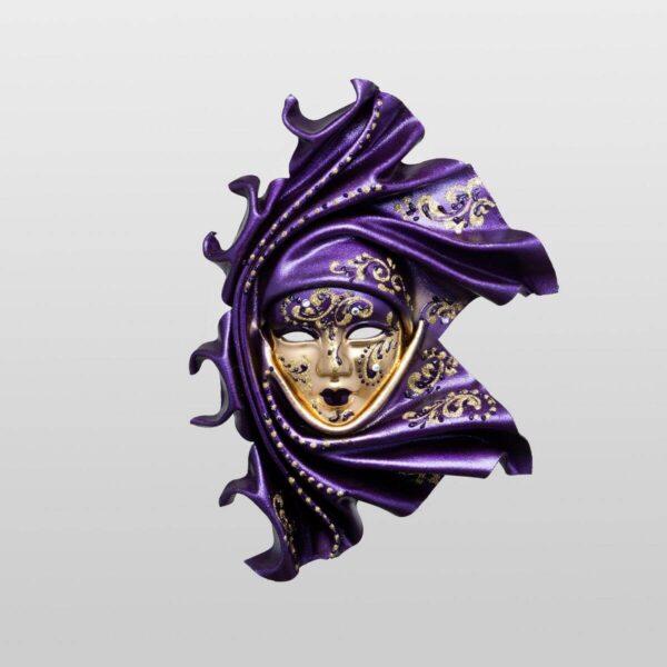 Saamira - Pequeña - Violeta - Máscara Veneciana