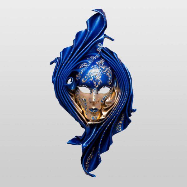 Safi - Large - Blu - Maschera Veneziana