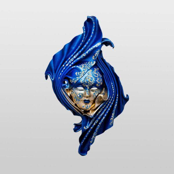 Safi Medium Blue - Venetian Mask