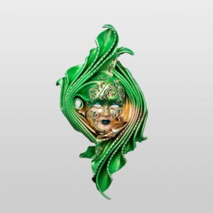 Safi Medium Green - Venetian Mask
