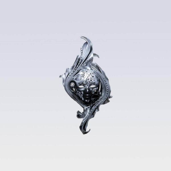 Safi Small Silver - Venetian Mask