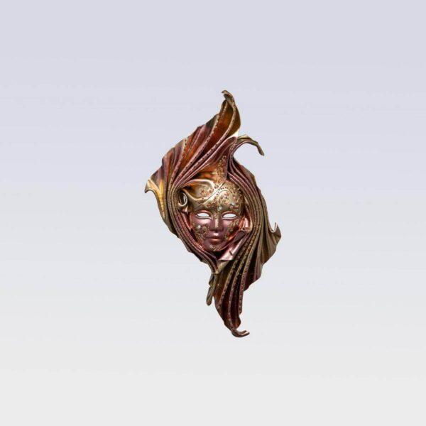 Safi Small Bronze - Venetian Mask