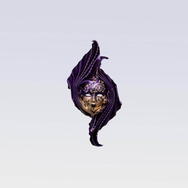 Safi Small Violet - Venetian Mask