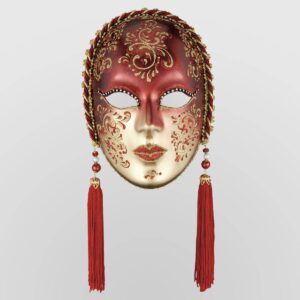 Vedova Cordone - Rosso - Maschera Veneziana