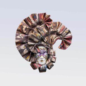 Ventolina - Extra Pequeña - taroc - Mascara Veneciana