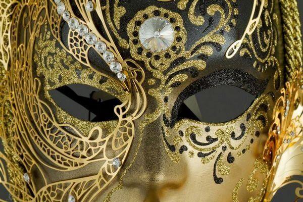 Volto Cigno aus Metall - Schwarz - Venezianische Maske - 1